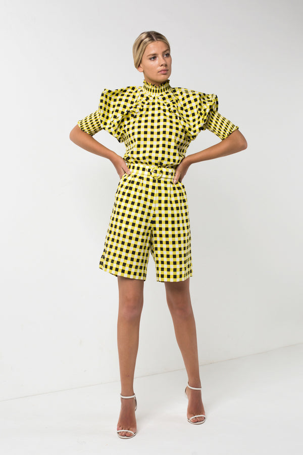 Checkmate Yellow Shirt | Checkmate Yellow Cropped Pant