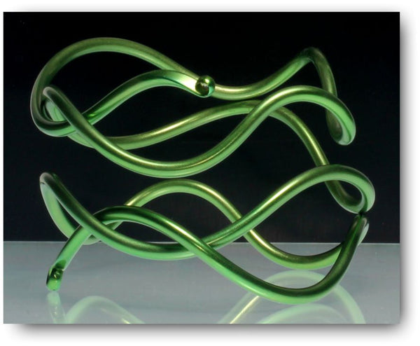 anodised wire bangle by ken baker