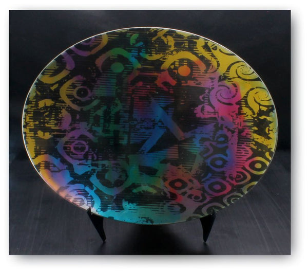 etched anodised bowl by ken baker