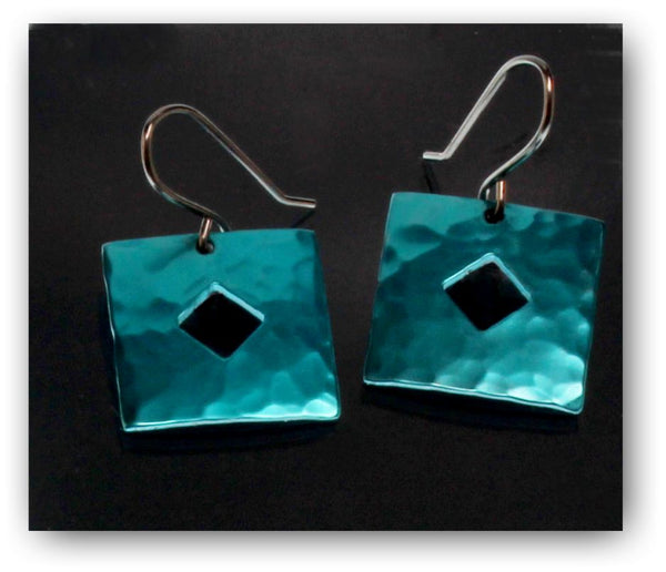 anodised earrings by ken baker