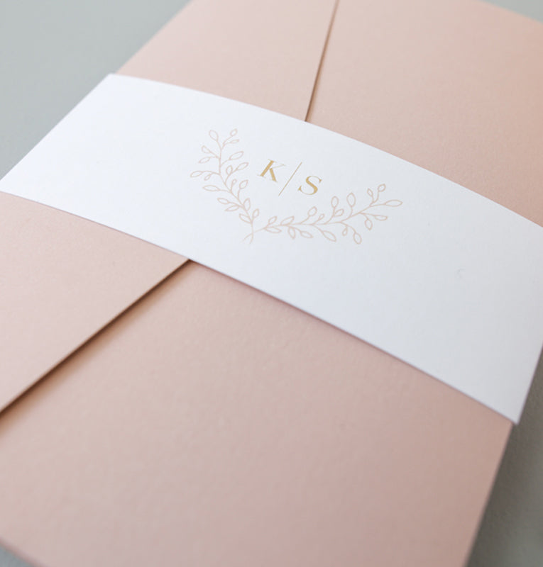 Dusty Pink - Magebelte m/monogram