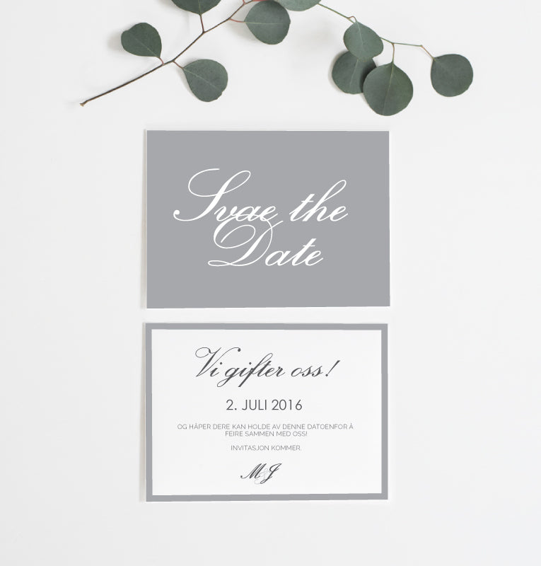 Classic Royale - Save the Date kort