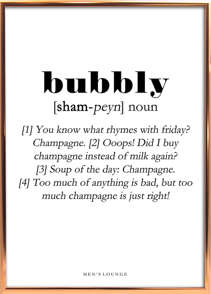 Bubbly Definition