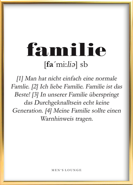 Familie Definition DE