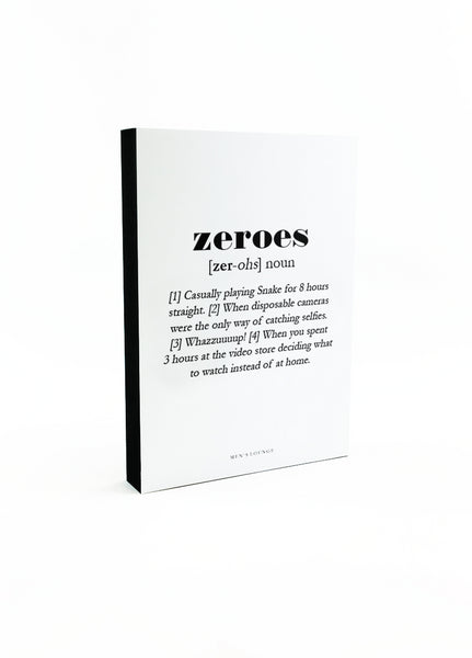 Zeroes Definition