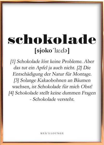 Schokolade Definition DE