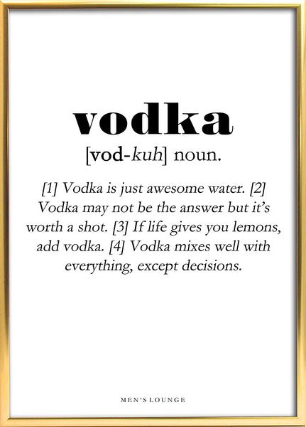 Vodka Definition