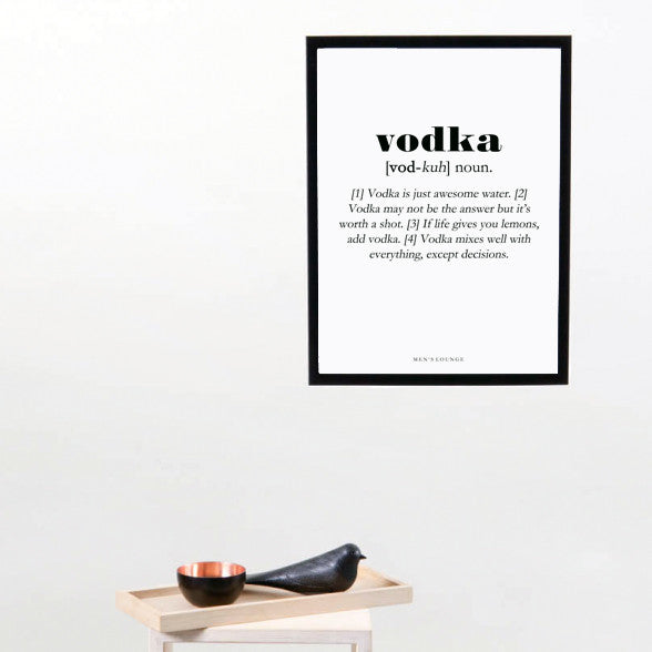 Vodka Definition - Men's Lounge