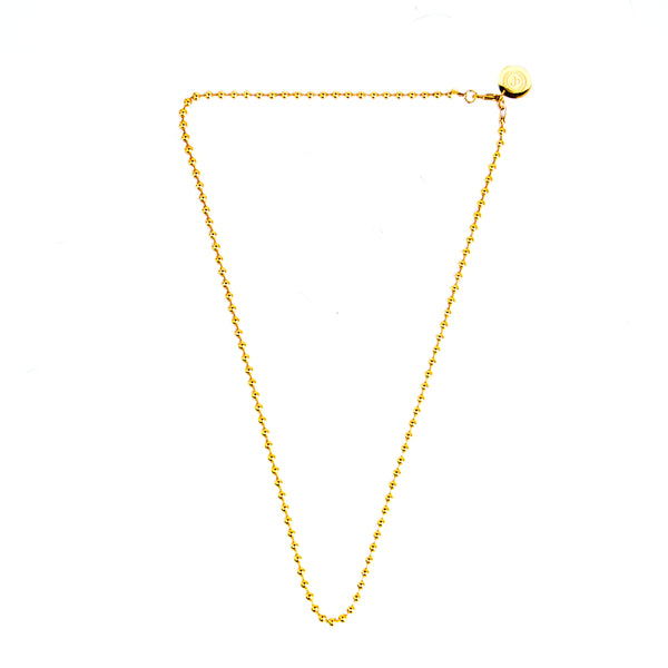 Ball Chain Necklace [ 16K Yellow Gold ]