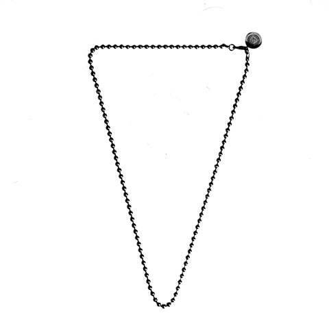 Ball Chain Necklace [ Jade Black ]