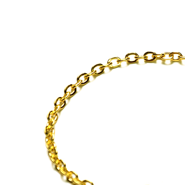 Flat-O CHAIN BRACELET [ YELLOW GOLD ]