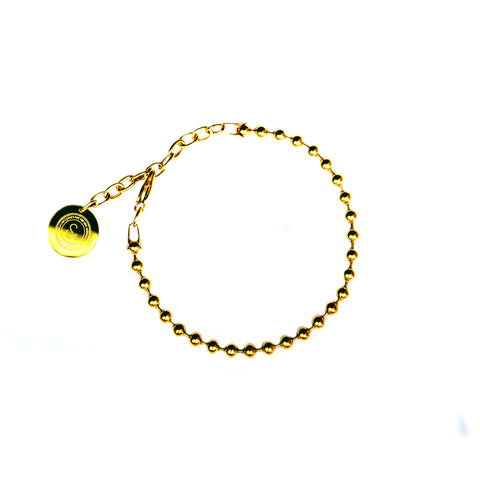 Ball Chain Bracelet [ 16K Yellow Gold ]