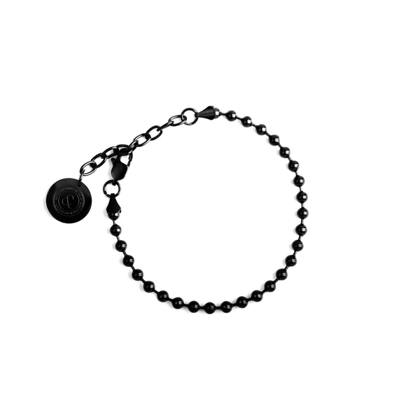 BALL CHAIN BRACELET [ JADE BLACK ]