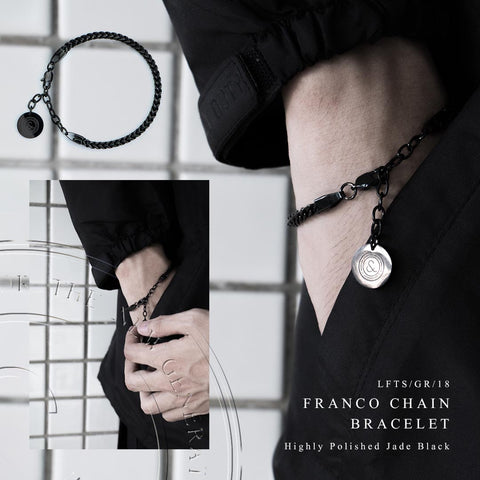 Franco Chain Bracelet [ JADE BLACK ]