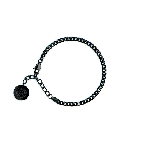 Cuban Chain Bracelet [ JADE BLACK ]