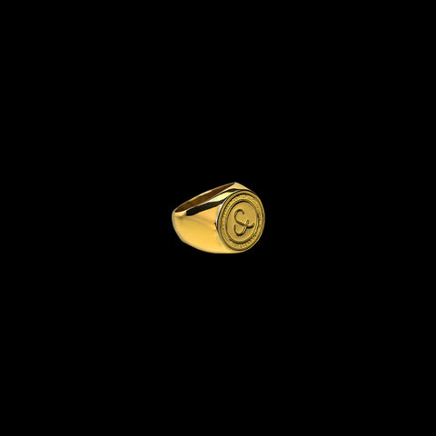 Lost Royalty Signet Ring [ YELLOW GOLD ]