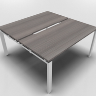 Astro Straight Bench Desk 700mm Depth with Scalloped Edge