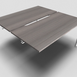 Astro Straight Bench Desk 700mm Depth with Scalloped Edge Add On Unit
