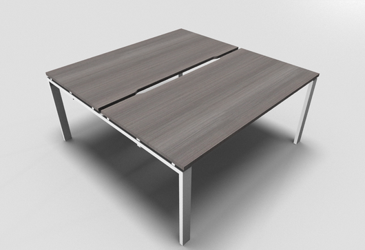 Astro Straight Bench Desk 800mm Depth with Scalloped Edge