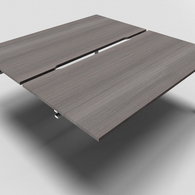 Astro Straight Bench Desk 800mm Depth with Scalloped Edge Add On Unit