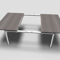 Astro Straight Bench Desk with Sliding Top