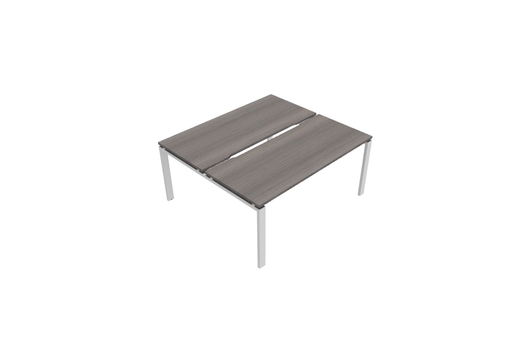 Astrolite Straight Bench Desk with Scalloped Edge 700mm Depth