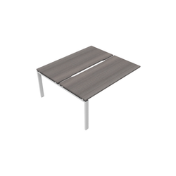 Astrolite Straight Bench Desk with Scalloped Edge 700mm Depth Add On Unit