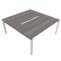 Astrolite Straight Bench Desk with Scalloped Edge 800mm Depth