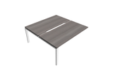 Astrolite Straight Bench Desk with Scalloped Edge 800mm Depth Add On Unit