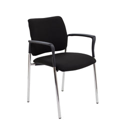 Florence conference/meeting/visitor chair with or without arms - Price Includes FREE Mainland UK Delivery - Min Order 2