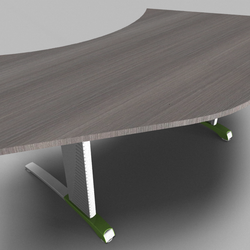 Couleur 120° Symmetrical Top Office Desk