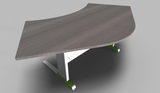 Couleur 120° Symmetrical Top Office Desk with Metal Modesty Panel