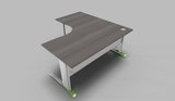 Couleur 90° Symmetrical Top Office Desk with Metal Modesty Panel