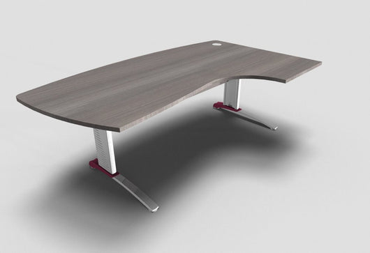 Couleur Compact Top Executive Desk with Metal Modesty Panel