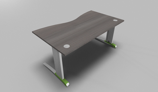 Couleur Double Wave Top Office Desk