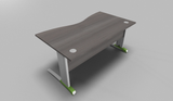Couleur Double Wave Top Office Desk with MFC Modesty Panel