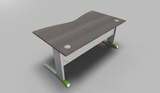 Couleur Double Wave Top Office Desk with Metal Modesty Panel