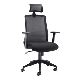 Denali HB task chair with height adjustable arms and headrest - Price Includes FREE Mainland UK Delivery