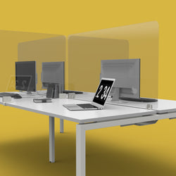 Transparent Protective Easy Clean Screens for Single Desks or Bench Desks