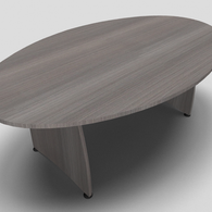 Ensemble Barrel Office Meeting Table with Panel Leg Design