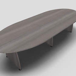 Ensemble Barrel Office Meeting Table with Panel Leg Extension Unit