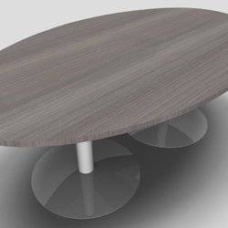 Ensemble Barrel Office Meeting Table with Trumpet Leg Design