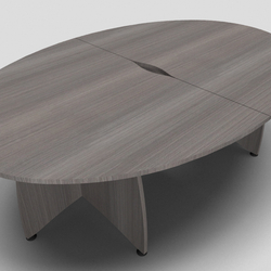 Ensemble Ellipse Office Meeting Table with Panel Leg Design