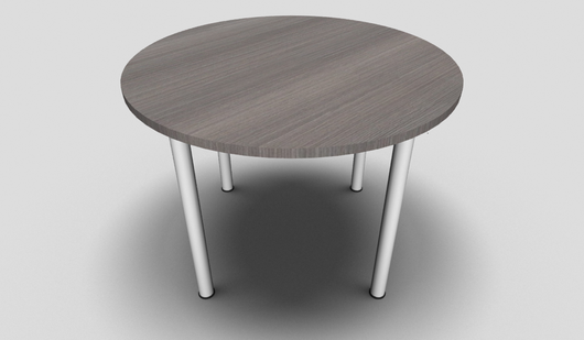 Ensemble Round Office Meeting Table with Cylindrical Leg Design