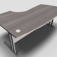 Essentiel Compact Top Executive Desk with MFC Modesty Panel
