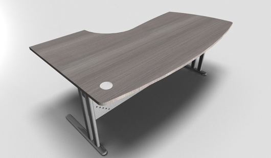 Essentiel Compact Top Executive Desk with Metal Modesty Panel