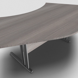 Essentiel Double 120° Symmetrical Top Office Desk with MFC Modesty Panel