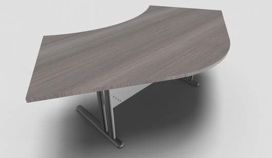 Essentiel Double 120° Symmetrical Top Office Desk with Metal Modesty Panel