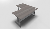 Essentiel Double 90° Symmetrical Top Office Desk with Metal Modesty Panel
