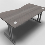 Essentiel Double Wave Top Office Desk
